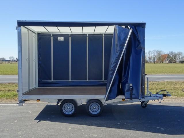 Titan plateauwagen met schuifzeilen 350x185x210cm