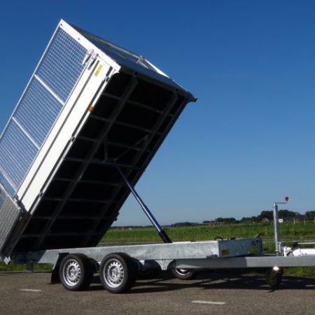 Twin-Trailer-TT-3500kg-352x192cm-met-loofrekken-zijkant-en-voorkant